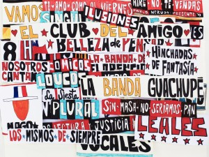 "Collage de lienzos de papel ""El Club del Amigo"""